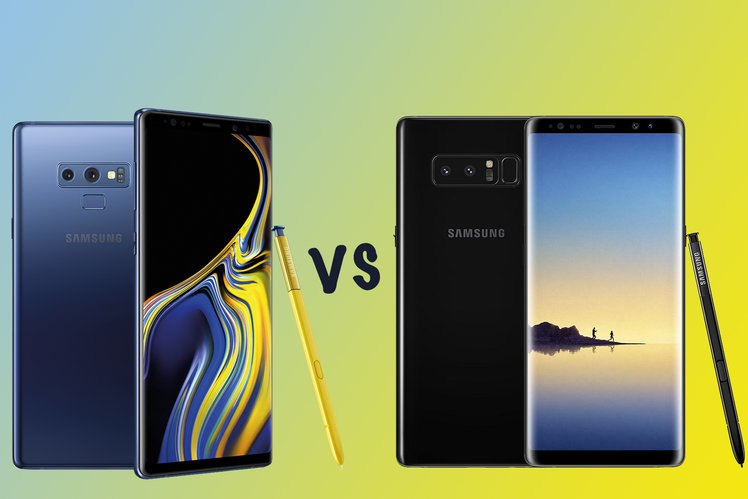 Galaxy Note 9  VS Galaxy Note 8
