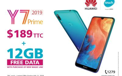 Huawei Y7 Prime 2019 has finally hit the shelves in Lebanon