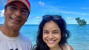 Pictures of actress Sumona Chakravarti by actress Kapil Sharma with a mysterious man are breaking the internet!  |  Television News