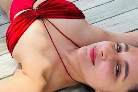 Trending: Parineeti Chopra sizzles in red hot monokini, flaunts her sunburn from Maldives - In Pics