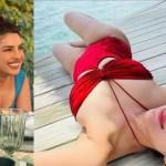 Priyanka Chopra asks Parineeti if she's the inspiration behind her latest red hot monokini look! 💥👩👩💥