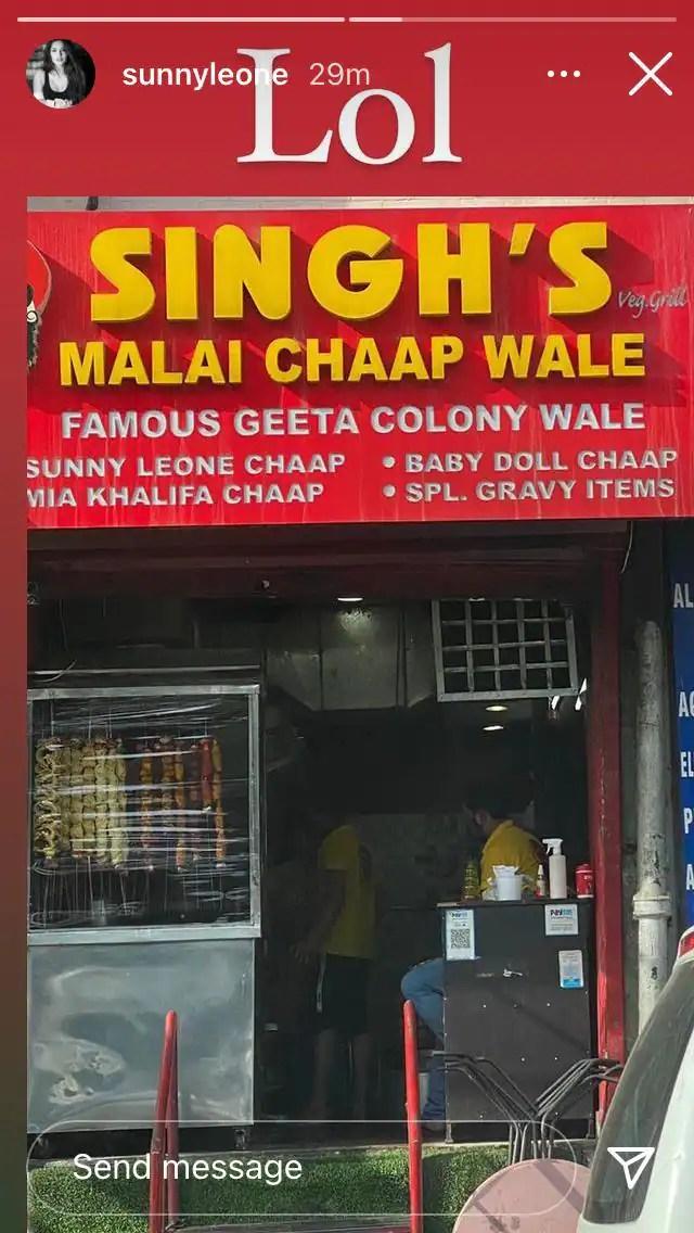 Sunny Leone and Mia Khalifa Chaap available in Delhi based restaurant