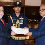 Six envoys present credentials to President