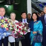 Ban Ki-moon arrives in city