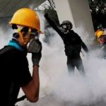 Hong Kong police fire tear gas at protesters