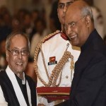 Pranab Mukherjee receives Bharat Ratna, India's highest civilian award