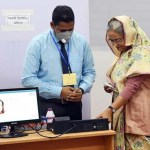 PM casts vote in JS by-polls at Dhaka City College centre