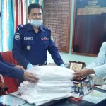 TM Healthcare gives PPEs to Phulbari police admn