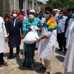 Food aid distributed among imam, muazzins in Naraynagnaj
