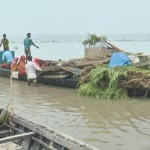 Flood-hit char people moving to high lands in Bogura