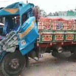 Two labours killed in Sirajganj trucks collision