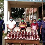 Three held with Indian liquor in Mymensingh