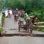 Bridge collapses in Panchbibi