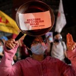 Protesters defy Myanmar junta after US imposes sanctions