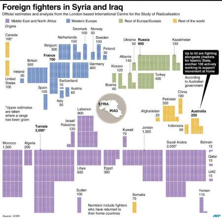 Foreign fighters in Syria and Iraq ( John Saeki (AFP)