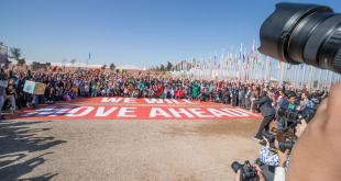 Giant familiy photo outside the UN Climate Conference venue in Marrakech. Photo UNFCCC