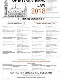 Hague Academy of International Law 2018 Summer Program