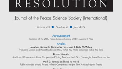 Journal of Conflict Resolution - Volume 63 Issue 6, July 2019