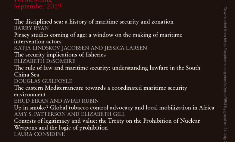 International Affairs - Volume 95, Issue 4, July 2019