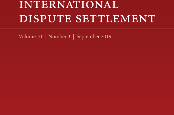 Journal of International Dispute Settlement - Volume 10, Issue 3, September 2019