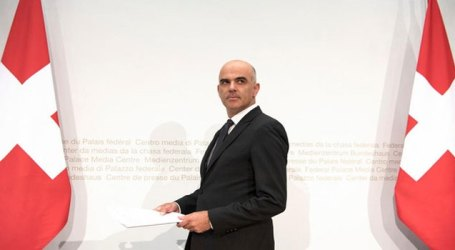 Switzerland President Alain Berset arrives in Dhaka