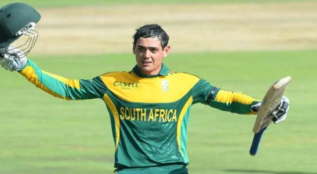S.Africa's De Kock hits quickfire 87 to set up ODI win