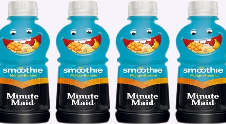 Now taste Minute Maid Smoothie by Coca Cola