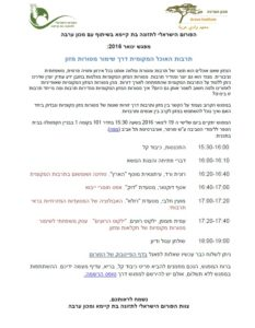 מפגש ינואר 2016 - הפורום הישראלי לתזונה בת קיימא