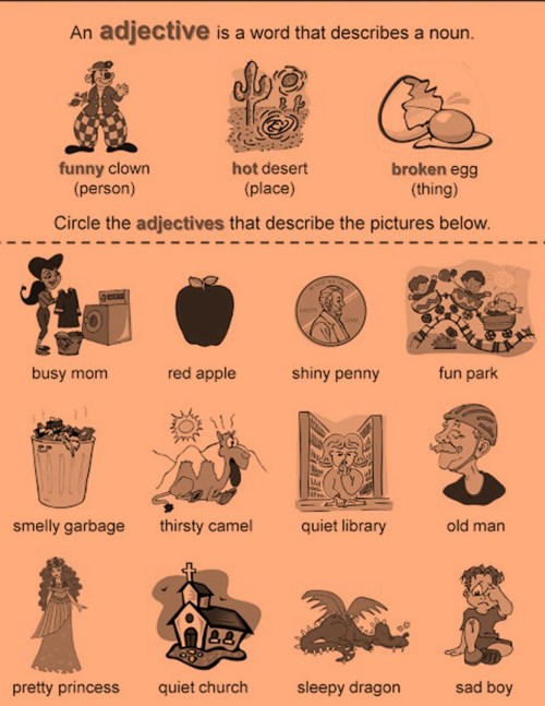 small resolution of Class 3: Adjectives - English Square