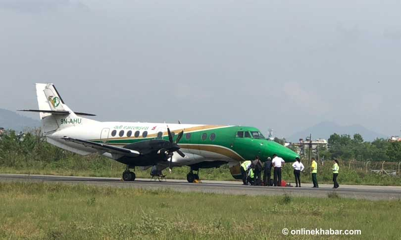 Flights affected as Yeti Airlines craft gets its wheel locked on ...