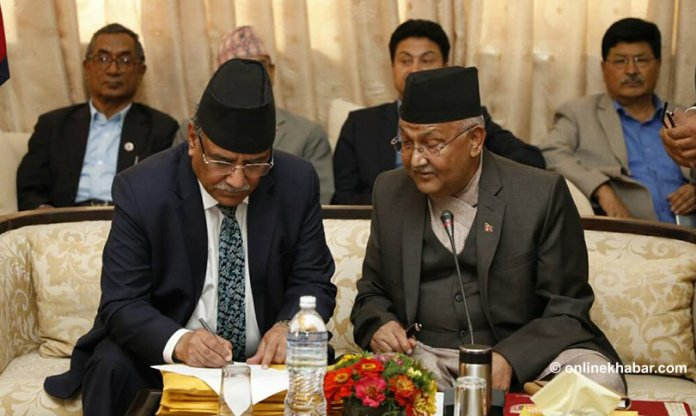 From the Kathmandu Press: Friday, June 1, 2018 kp oli prachanda