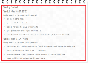 TEFL2YL Syllabus Week 1