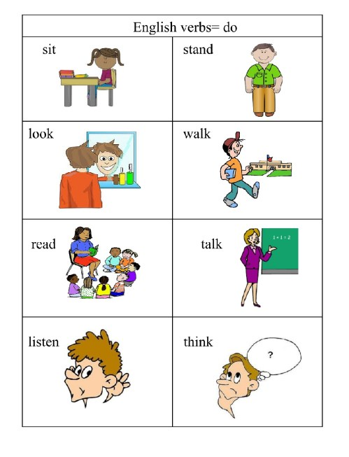 small resolution of Verbs\u003d doing words   English 4 Me 2