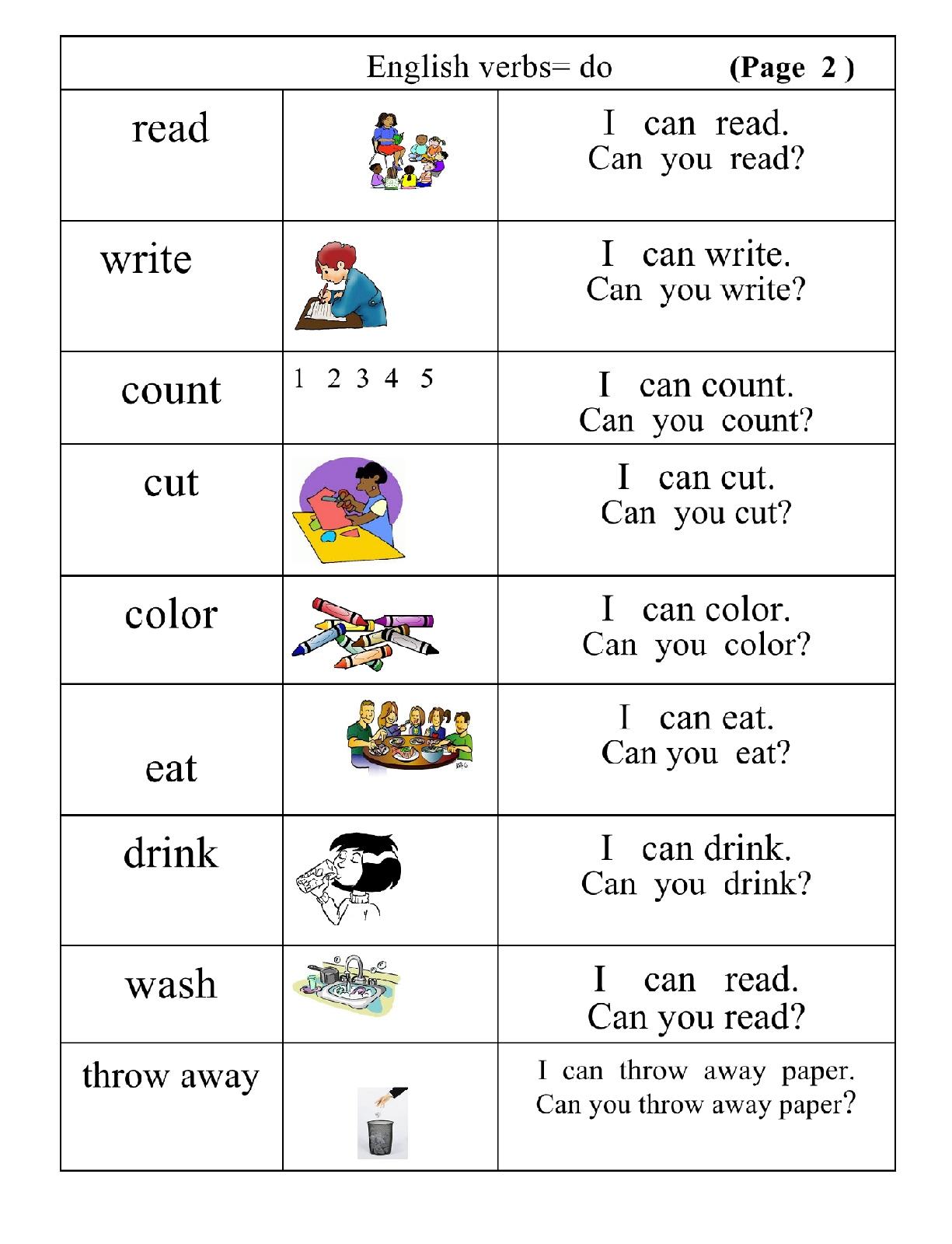 Very Basic Verbs Group 2