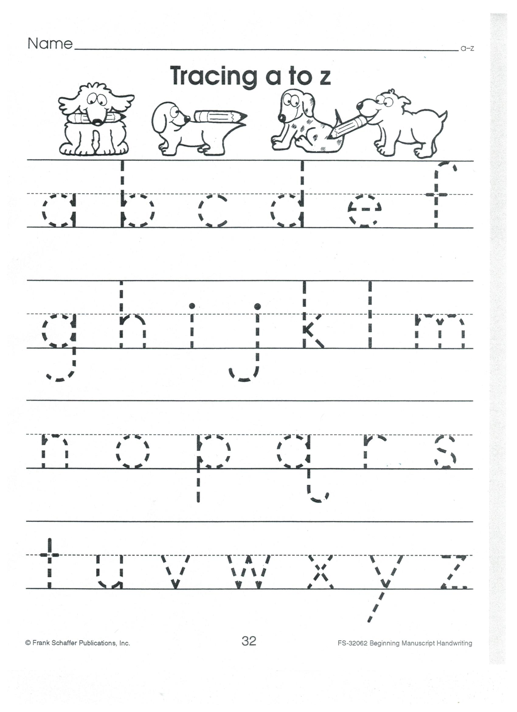 English Print Abc A To Z Lower Case 001