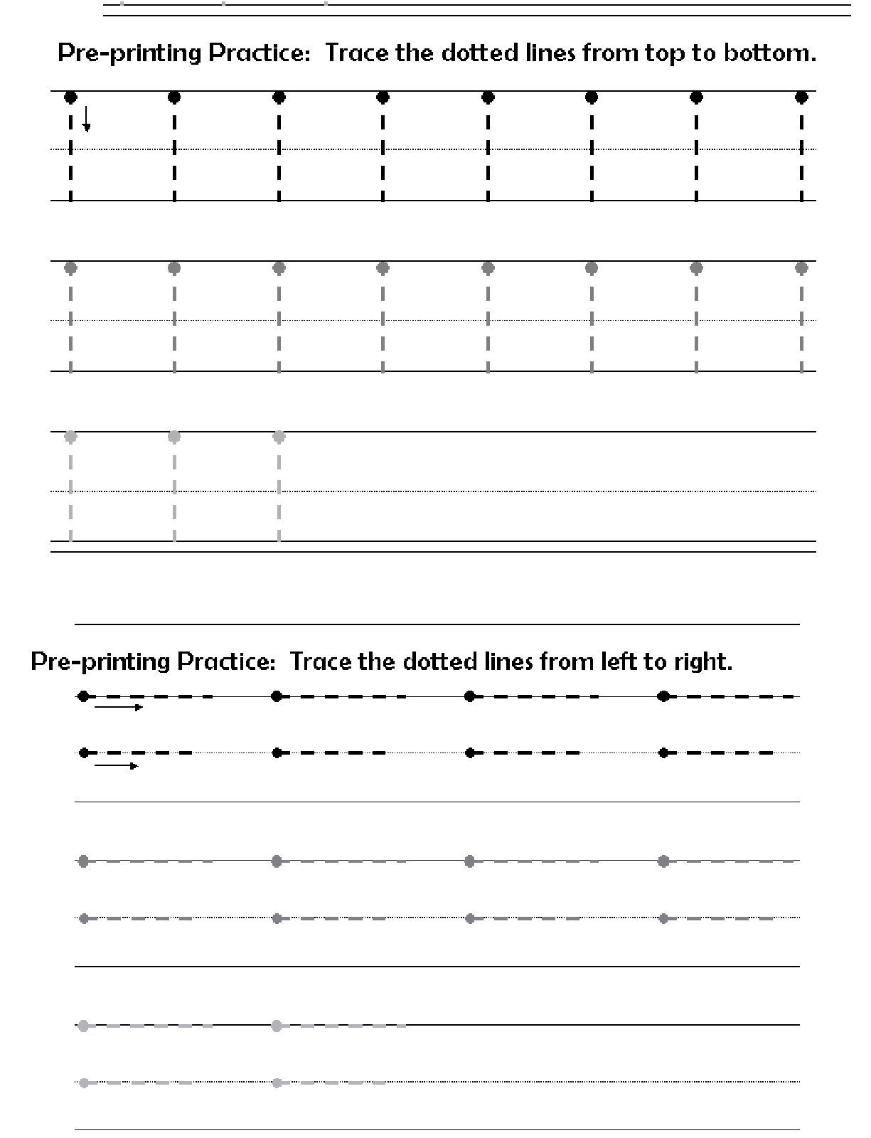 Pre K Worksheet Reading Printing