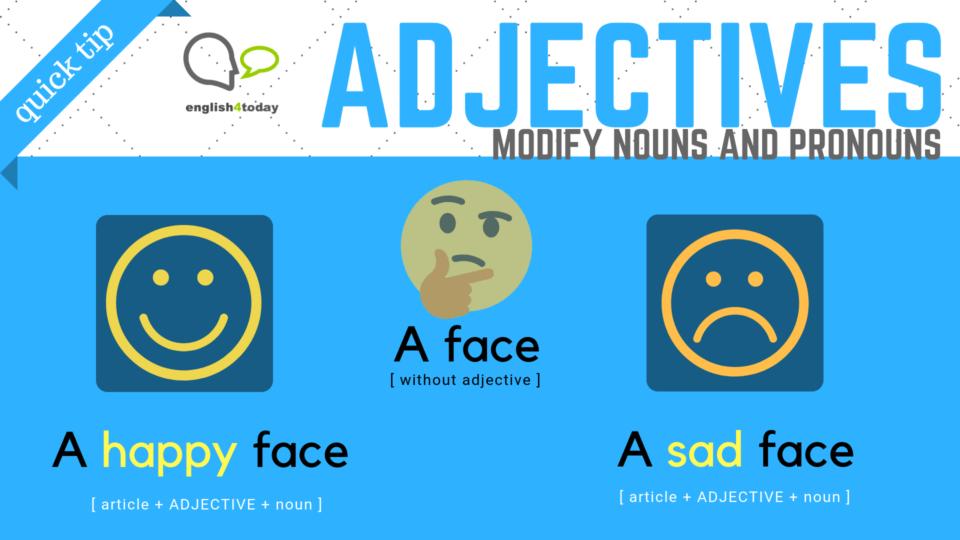 Adjectives: an introduction 1