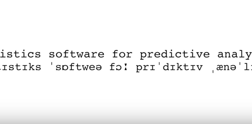 Statistics software for predictive analytics