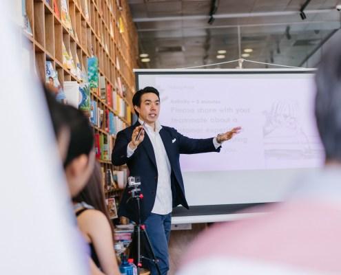 Asian Man Presentation