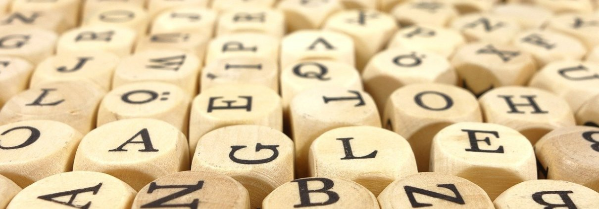 Wooden Cubed Letters