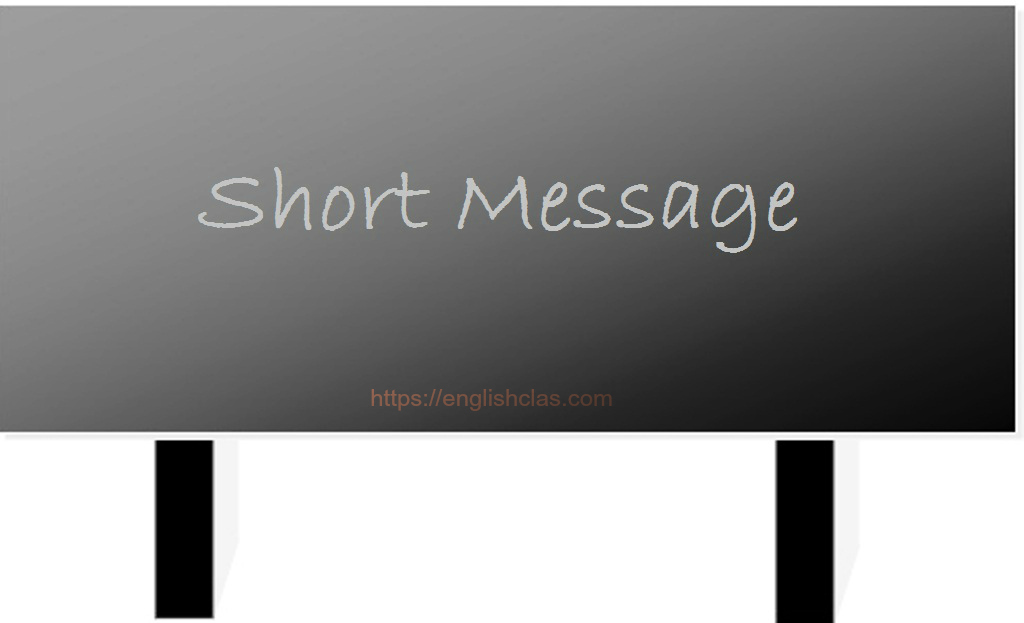 6 Examples Of Short Message (SMS) Terbaru