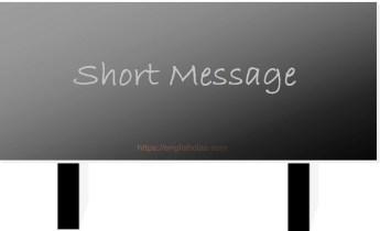 Penjelasan dan Contoh Short Message Text, SMS