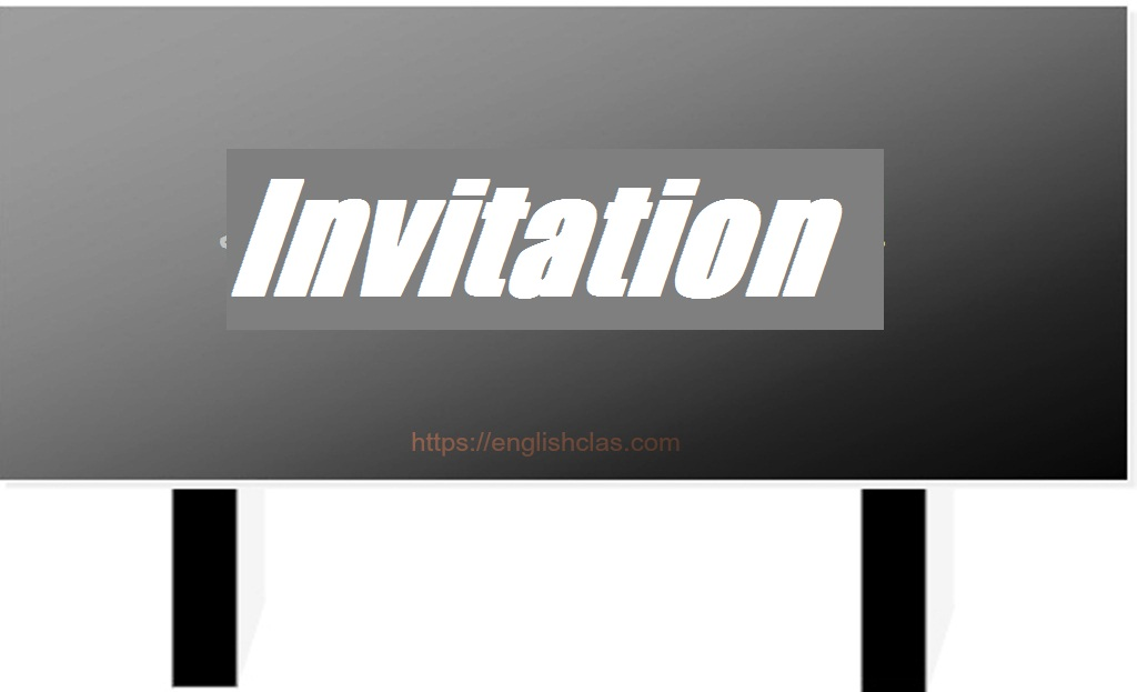 Definiton of Invitation Text, Generic Structure, dan Contohnya