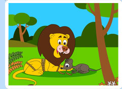 Contoh Narrative Text singkat- The lion and the Mouse