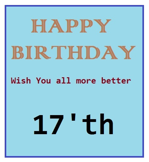 Contoh greeting card - birthday card