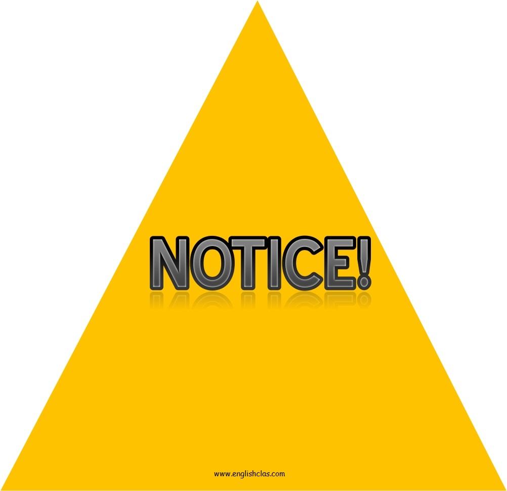 Pengertian (Definition) Notice dan Contoh Notice