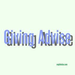 Dialog bahasa inggris 2 orang-Giving Advise