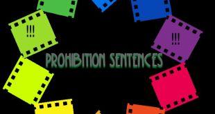Belajar Prohibition Sentence dan Jenisnya