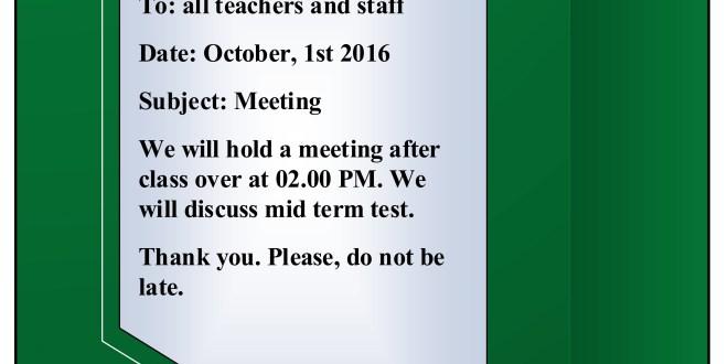 Contoh Short Message Kegiatan Sekolah English Class