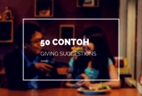 50 Contoh Giving Suggestion Lengkap